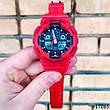 Часы мужские в стиле G-Shock. Мужские наручные часы красные. С черным циферблатом. Годинник чоловічий, фото 5