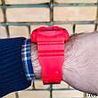 Часы мужские в стиле G-Shock. Мужские наручные часы красные. С черным циферблатом. Годинник чоловічий, фото 6