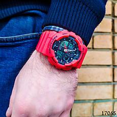 Часы мужские в стиле G-Shock. Мужские наручные часы красные. С черным циферблатом. Годинник чоловічий, фото 3