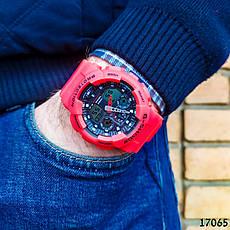 Часы мужские в стиле G-Shock. Мужские наручные часы красные. С черным циферблатом. Годинник чоловічий, фото 2