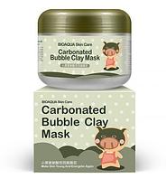 Маска для лица BIOAQUA Skin Care Carbonated Bubble Clay Mask Pig с пузырьками (100 грамм)