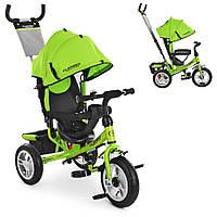 Велосипед-коляска детский трехколесный Turbo Trike M 3113-4A салатовый
