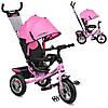 Велосипед-коляска детский трехколесный Turbo Trike M 3113А-10 розовый