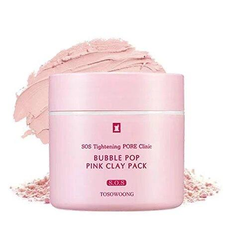 Пузырьковая очищающая маска для лица Tosowoong Pink Clay Pack 50 г (8809179103602)