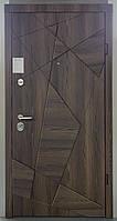 Двері вхідні Zimen Оптіма Aztec Дуб галіфакс шоколадний / Дуб галіфакс білий