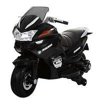 Детский мотоцикл BMW на аккумуляторе с кожаным сиденьем M 3282 EL-2 черный
