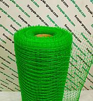 Сетка вольерная пластиковая 0,5х100 м,ячейка 12х14 мм (черная,зеленая).