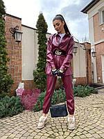 Стильный костюм из экокожи
