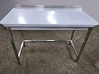 Стол производственный из нержавеющей стали с бортом/без борта. 800х700х850 мм.