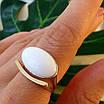 Серебряное кольцо с золотом и кораллом, авантюрином и кахолонгом, фото 5