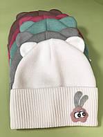 """В'язана шапочка """"Єва"""", розмір 44-46 (6-9 міс), кольори в асортименті"""