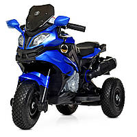 Детский мотоцикл синий, фото 1