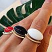 Серебряное кольцо с золотом и кораллом, авантюрином и кахолонгом, фото 2