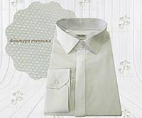 Сорочка чоловіча молочна/айворі з фактурної тканини 8115/3, фото 1