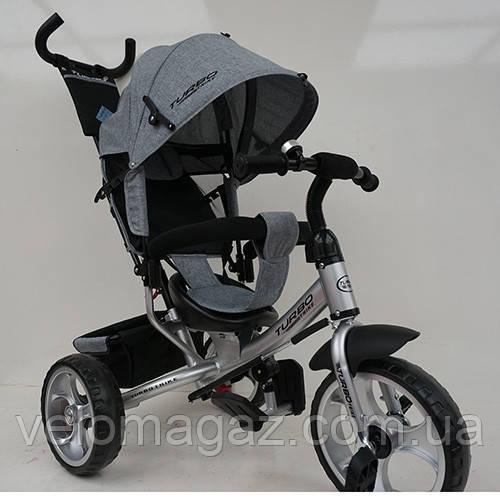 Детский трехколесный велосипед M 3113-19L, колеса EVA, серый