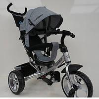 Детский трехколесный велосипед M 3113-19L, колеса EVA, серый, фото 1