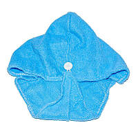 🔝 Тюрбан-полотенце для сушки волос, 52x20 см, Shower cap - голубой | 🎁%🚚, фото 1