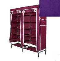 🔝 Портативный сборный тканевый шкаф на каркасе для хранения обуви Фиолетовый  | 🎁%🚚, фото 1