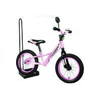 Детский беговел balance bike air crosser 14 дюймов розовый
