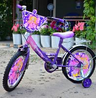 Детский велосипед Mustang Принцесса 18 дюймов фиолетовый