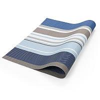 🔝 Коврики на кухонный стол, подстилки под тарелки, комплект, 6 шт., цвет - сине-голубой | 🎁%🚚, фото 1