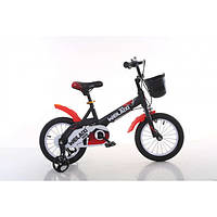 Детский двухколесный велосипед Weilaixe 876  (на рост от 105 см) 14 дюймов черный