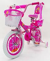 Детский двухколесный велосипед для девочки BARBIE (Барби) 19ВВ01-14 на 14 дюймов