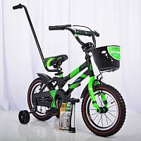 Детский двухколесный велосипед HAMMER S500 (от 3 до 6 лет) на 14 дюймов салатовый, фото 1