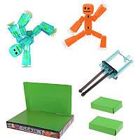 🔝 Конструктор-студия для создания мультфильмов StikBot (СтикБот) с салатовым и оранжевым человечками | 🎁%🚚, фото 1