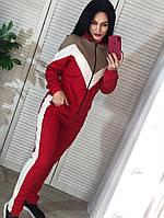 Женский спортивный костюм из трикотажа соты