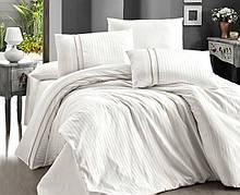 Комплект постельного белья Страйп Сатин евро Stripe Style   Krem