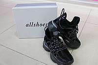 Женские черные кроссовки Allshoes 188-18056 BLACK ВЕСНА 2020, фото 1