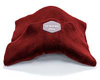 🔝 Дорожная ортопедическая подушка для путешествий Travel Pillow - Красная, с доставкой по Украине | 🎁%🚚