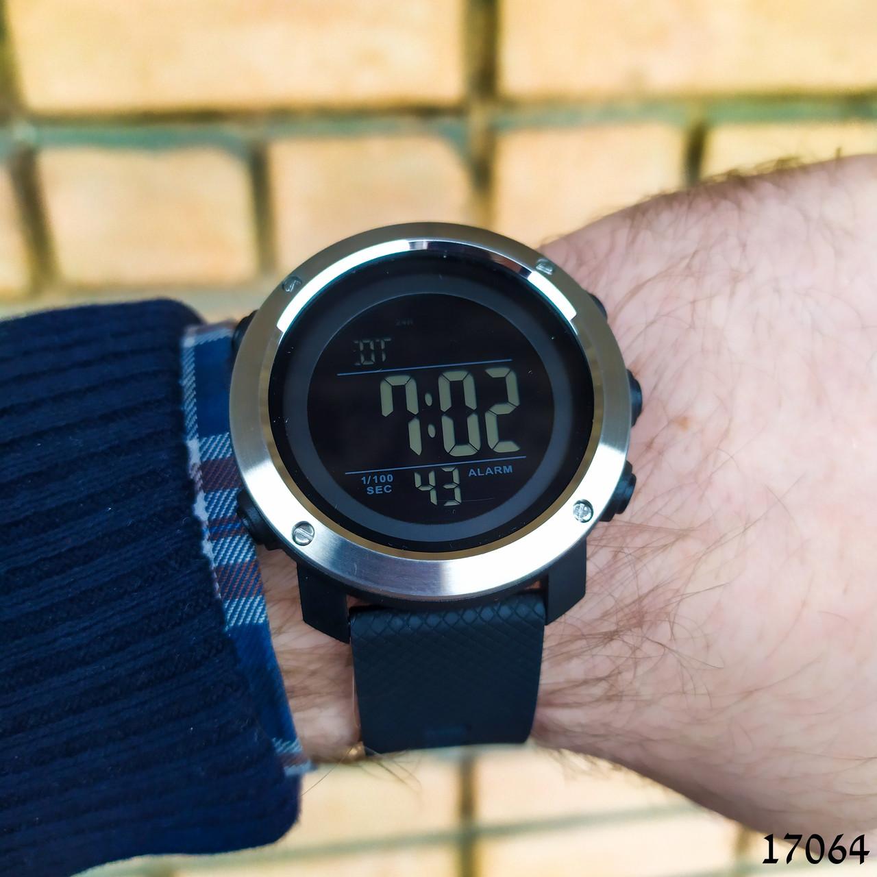 Часы мужские  Skmei. Мужские наручные часы черные. С черным циферблатом. Годинник чоловічий