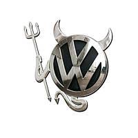 🔝 Оригинальная наклейка на авто Diablo - автонаклейка, цвет - серебристый, с доставкой по Украине   🎁%🚚