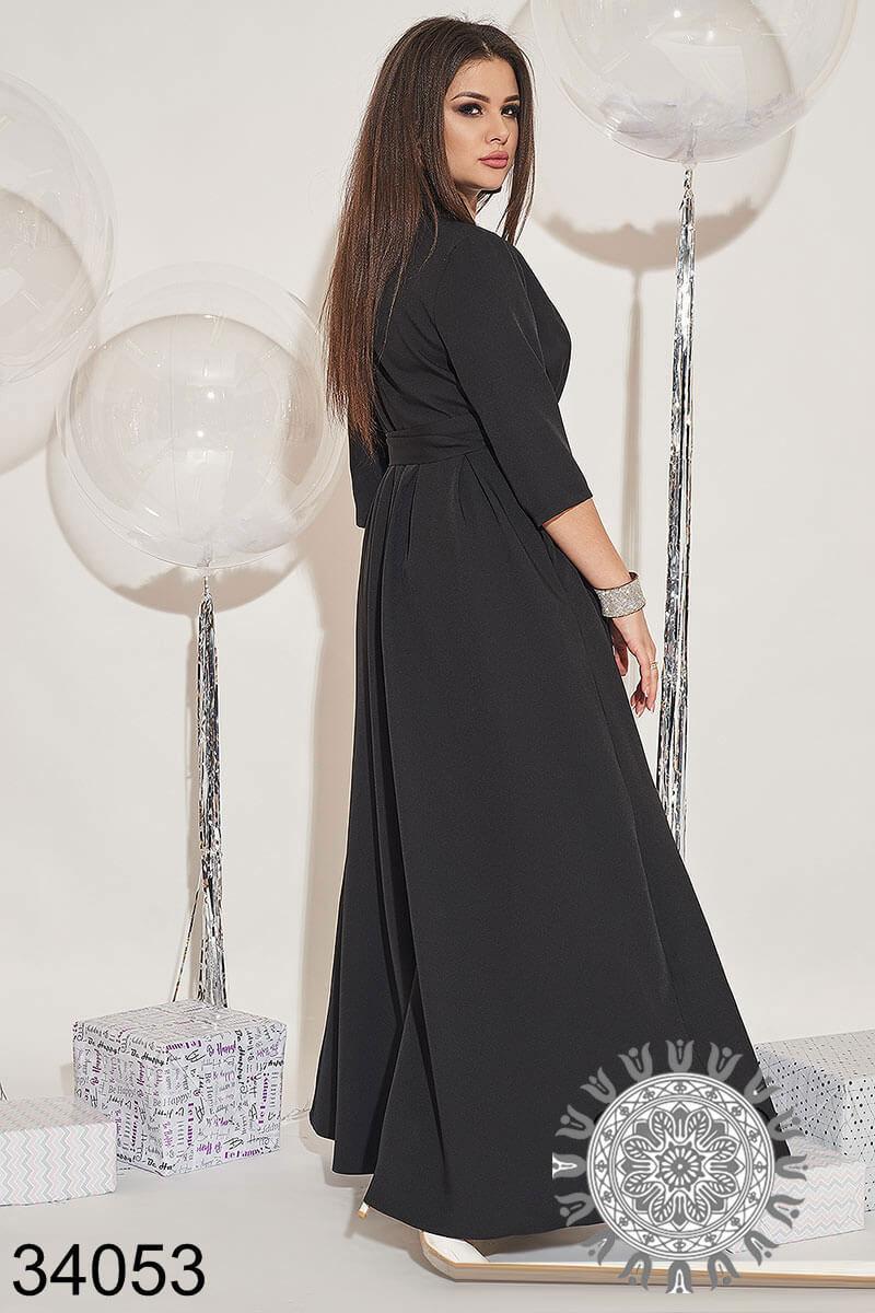 Вечернее длинное платье на запах р.50-52,54-56