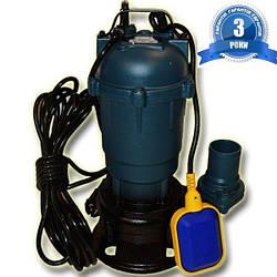 Фекальный насос с измельчителем WQD 10-10-1.1 GRAND WATER + трос, зажимы, хомут, перч. 3 года