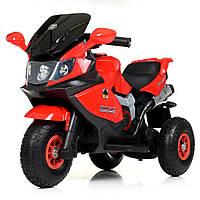 Детский трехколесный мотоцикл красный, фото 1