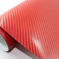 Пленка под карбон 4D красная Catpiano 1,52 м, фото 1