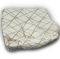 🔝 Универсальный еврочехол на одноместный диван кресло (Бежевый с узором) 90-140 см   накидка чехол   🎁%🚚