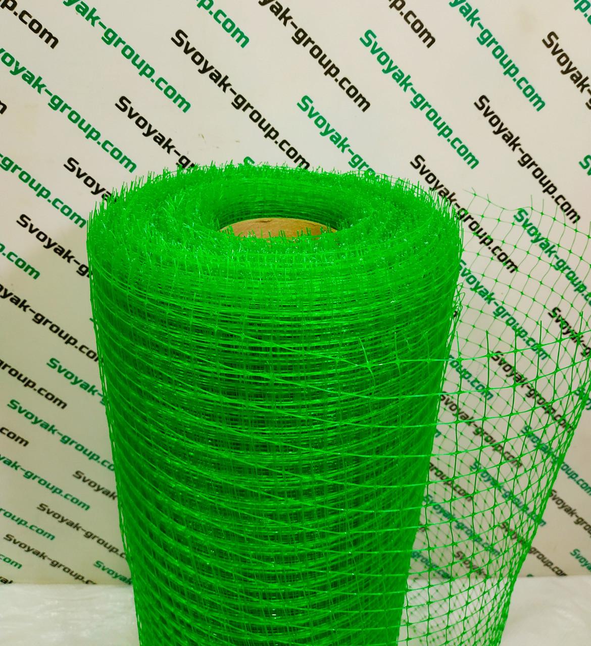 Сетка вольерная для птицы 1,5х100 м,ячейка 12х14 мм (черная,зеленая).