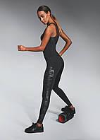 Спортивні жіночі легінси BasBlack Combat (original), лосини для бігу, фітнесу, спортзал, фото 1