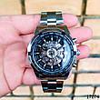 Часы мужские Winner. Мужские наручные часы серебристые. С черным циферблатом. Годинник чоловічий, фото 4