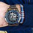 Часы мужские Winner. Мужские наручные часы серебристые. С черным циферблатом. Годинник чоловічий, фото 5