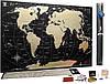 🔝 Скретч карта мира, My Map Black Edition, карта для путешествий, Gold, ENG | 🎁%🚚