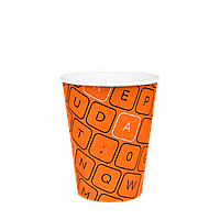 "Бумажный стакан серия  ""#Parol"" 400мл. 50шт/уп (1ящ/20уп/1000шт) под крышку КР91/РОМБ91"