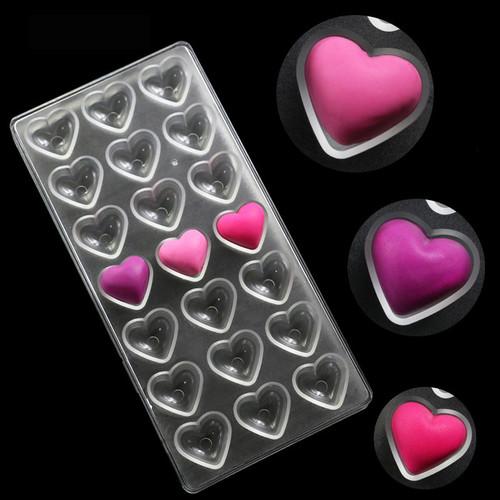 Форма для шоколадних цукерок, Сердечка
