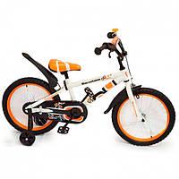 Детский двухколесный велосипед Barcelona (от 2-х до 5-х лет) на 12 дюймов оранжевый, фото 1