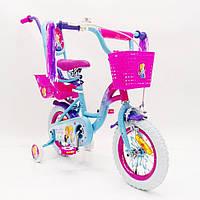 Детский двухколесный велосипед для девочки ICE FROZEN Ледянное Сердце Анна и Эльза 19PS02-14 на 14 дюймов