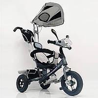 Детский трехколесный велосипед WS862AW M Серый светящаяся фара, фото 1